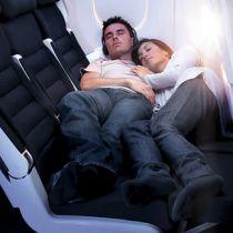Liggend slapen bij Air New Zealand