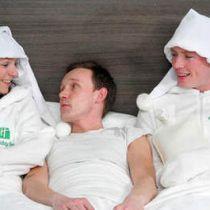 Menselijke bedverwarmers zorgen voor een warm bed