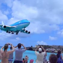 Vliegtuigen spotten op Sint Maarten