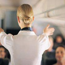 Stewardessen op de vuist