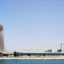 Capital Gate tower schever dan de toren van Pisa