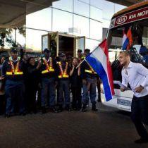 Nederlands elftal in Hilton Johannesburg