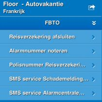 FBTO lanceert iPhone Vakantiehulp applicatie