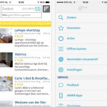 ANWB: gratis app voor Bed & Breakfasts in Nederland en Europa