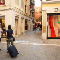 Koffers op wieltjes toch wel toegestaan in Venetië