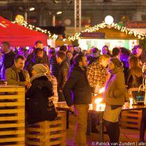 Topdrukte Antwerpen door kerstmarkt