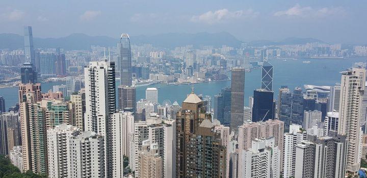 Minder reizigers naar Hongkong