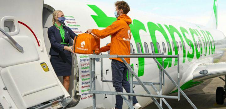 Unieke samenwerking Transavia en Thuisbezorgd.nl