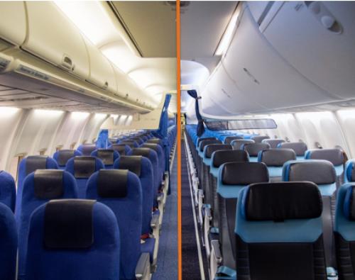 KLM vernieuwt volledig cabine-interieur van 14 Boeing 737-800's